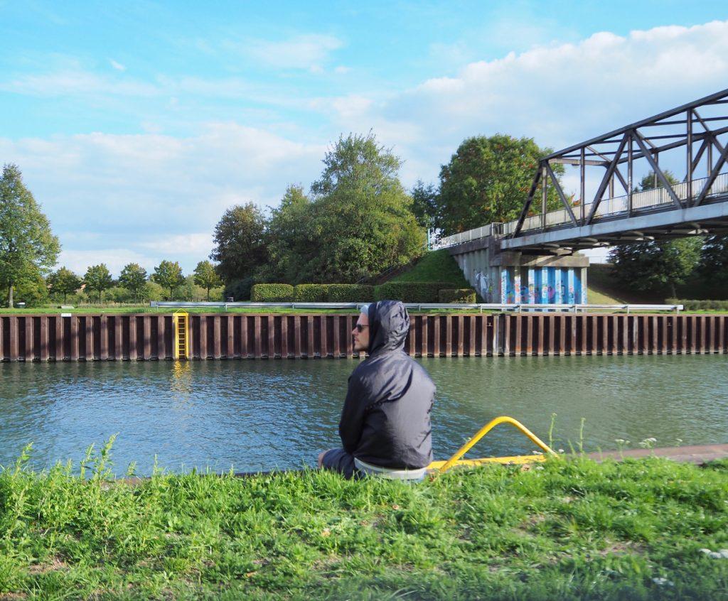Pause am Dortmund-Ems-Kanal