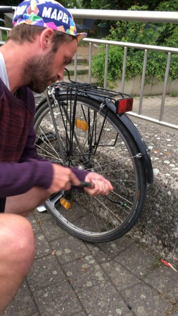 Schnelle Fahrradreparatur