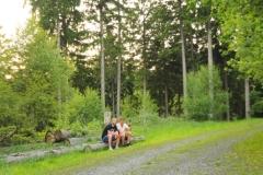 Pause im Wald Ruhrtalradweg