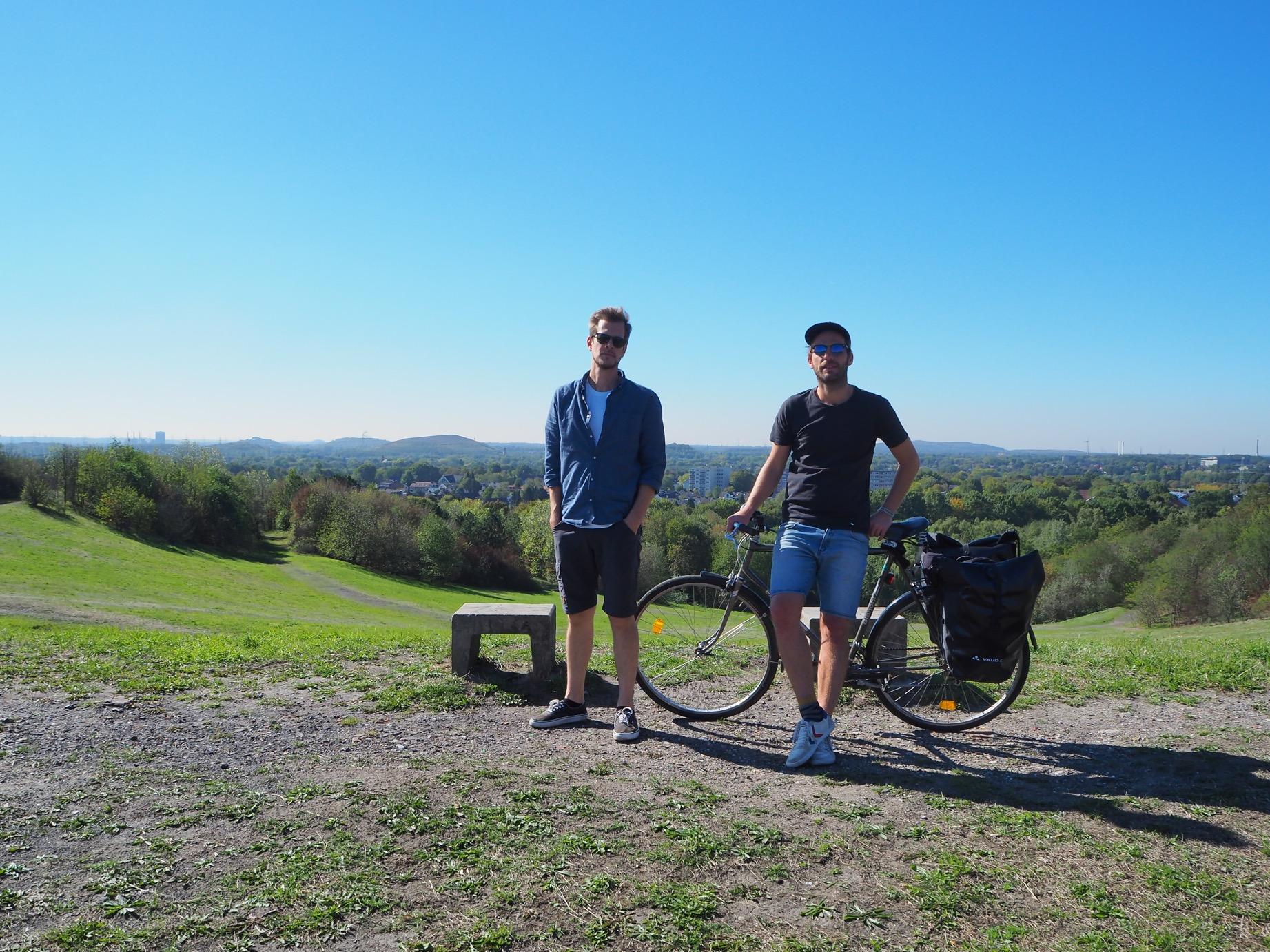 Halde Rungenberg und die Fahrradrabauken