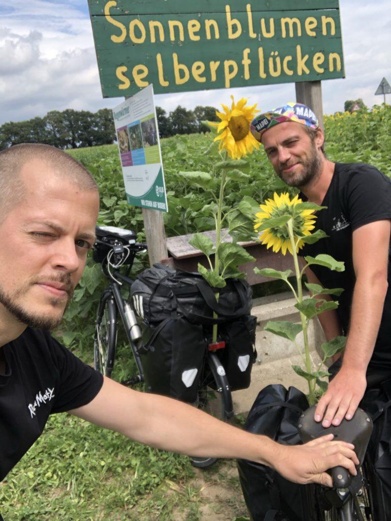 Fahrradrabauken auf Fahrradtour